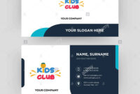 Kids Club, Business Card Design Template, Visiting For Your pertaining to Id Card Template For Kids