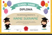 Kids Diploma Certificate Background Design Template Stock pertaining to Children's Certificate Template
