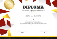 Kids Diploma Or Certificate Template With Gold inside Softball Certificate Templates Free