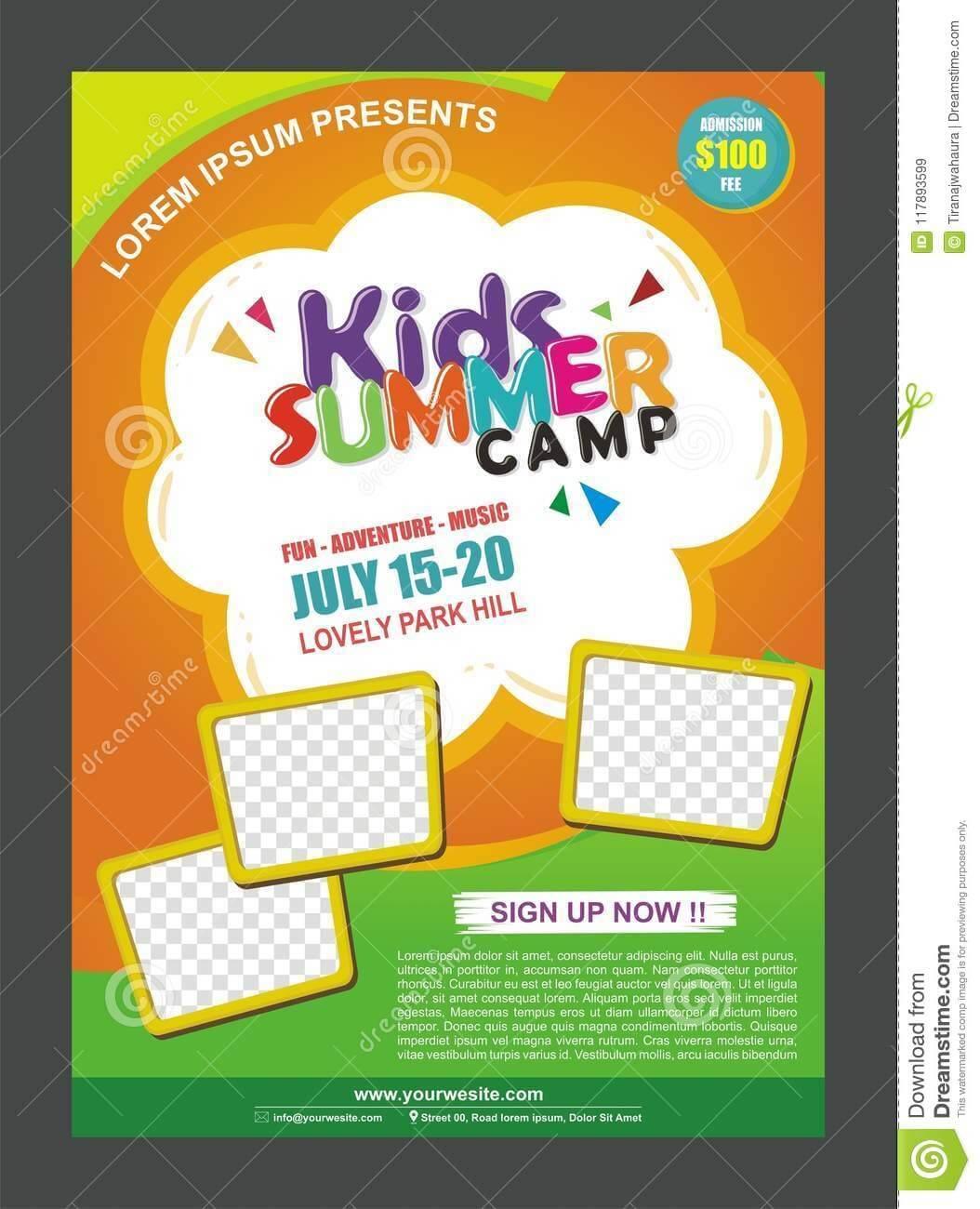 Kids Summer Camp Banner Poster Design Template For Kids In Summer Camp Brochure Template Free Download