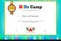 Kids Summer Camp Diploma Or Certificate Template with regard to Summer Camp Certificate Template