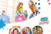 Kids Summer Camp Free Psd Flyer Template – Free Psd Flyer with Summer Camp Brochure Template Free Download