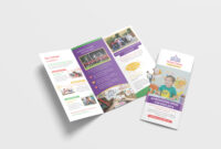 Kindergarten School Tri Fold Brochure Design Template inside Tri Fold School Brochure Template