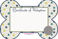 Kitten Adoption Certificate inside Pet Adoption Certificate Template