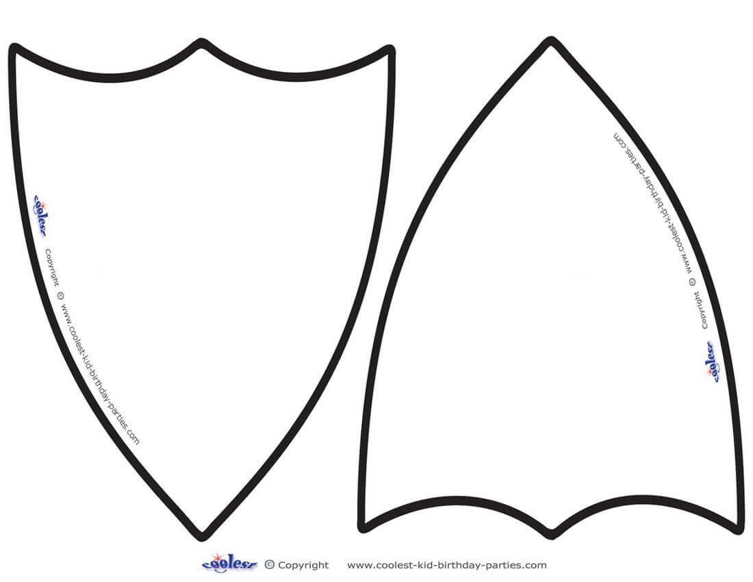 Knights Shield Template Printable Clipart - Free Clipart With Blank Shield Template Printable