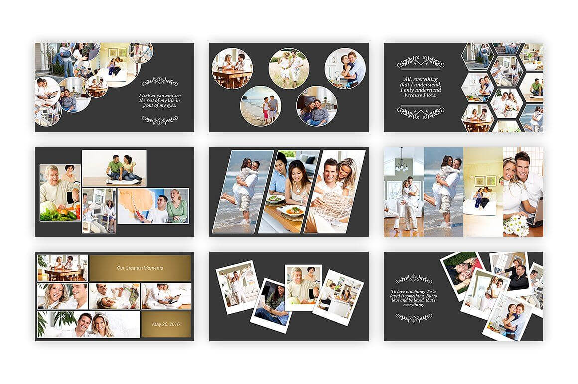 Kolase – Powerpoint Template #collage#perfect#album#family With Powerpoint Photo Album Template