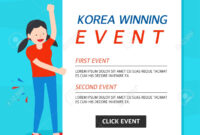 Korea Winning Event Banner Template with Event Banner Template