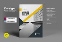 Kreatype Annual Reportkreatype Studio On @creativemarket within Annual Report Template Word
