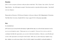 Lab Report Example – Osu Chemistry regarding Chemistry Lab Report Template