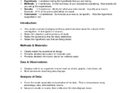 Lab Report Format Doc | Lab Report Template, Lab Report regarding Biology Lab Report Template