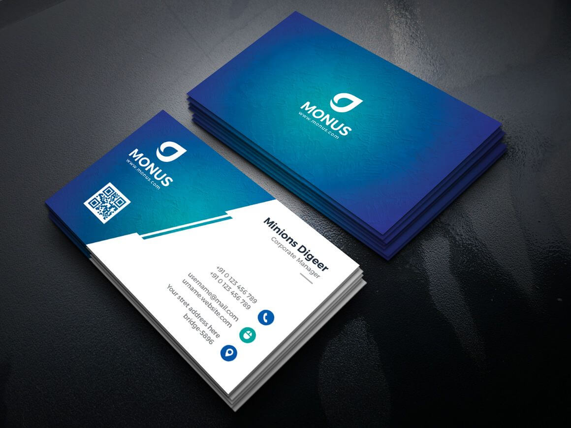 Lagoon Professional Corporate Business Card Template | 排版 With Regard To Professional Name Card Template