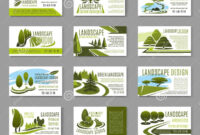 Landscape Design Studio Business Card Template Stock Vector for Lawn Care Business Cards Templates Free