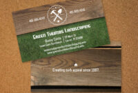 Landscaping Business Card | Vistaprint | Lawn Care Business with Landscaping Business Card Template