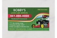 Landscaping Lawn Care Mower Business Card Template | Zazzle intended for Lawn Care Business Cards Templates Free