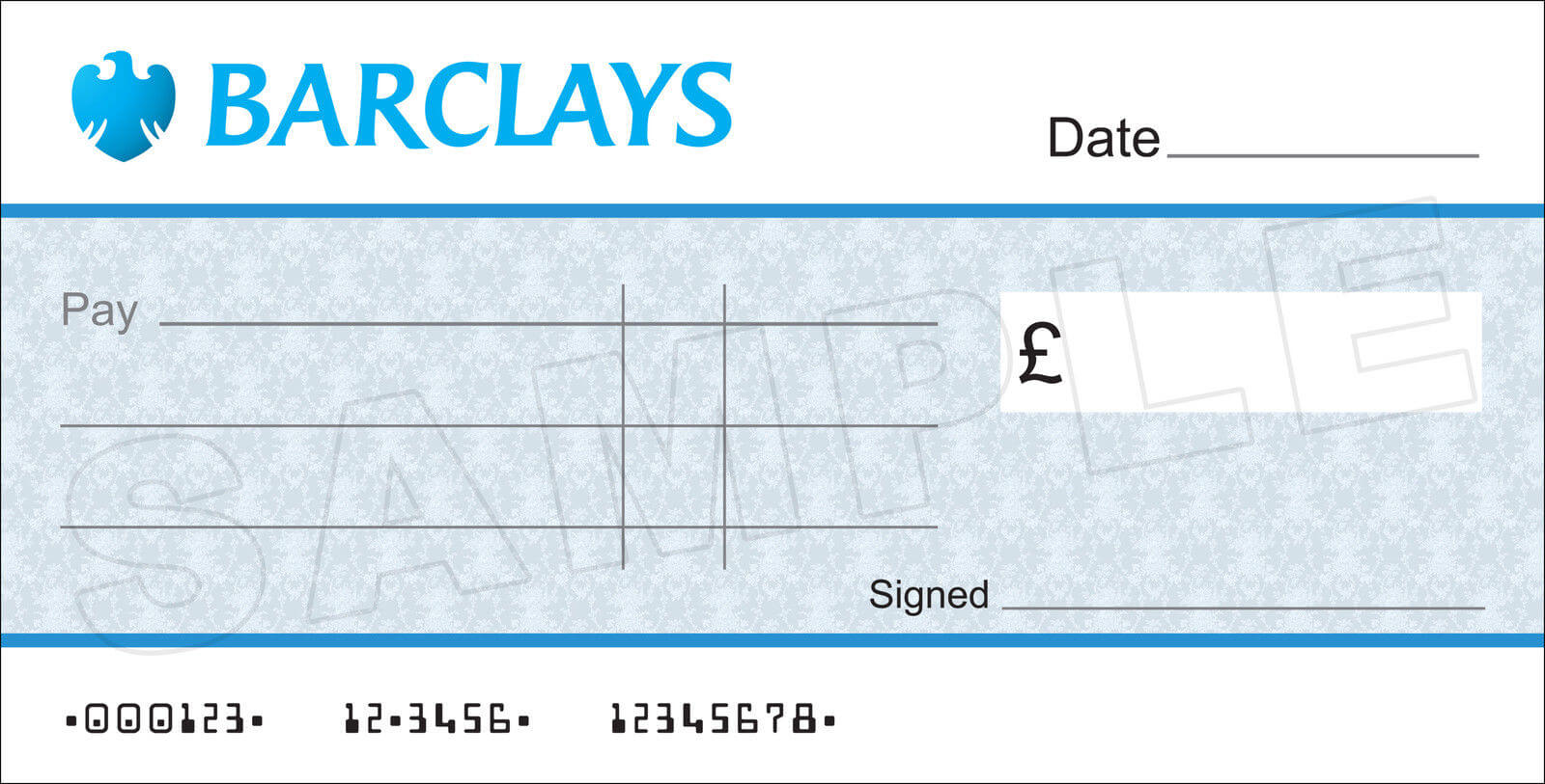 Large Blank Barclays Bank Cheque For Charity / Presentation With Regard To Blank Cheque Template Uk