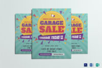 Large Garage Sale Flyer Template with Garage Sale Flyer Template Word