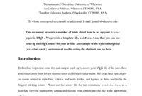 Latex Templates » Academic Journals regarding Acs Word Template
