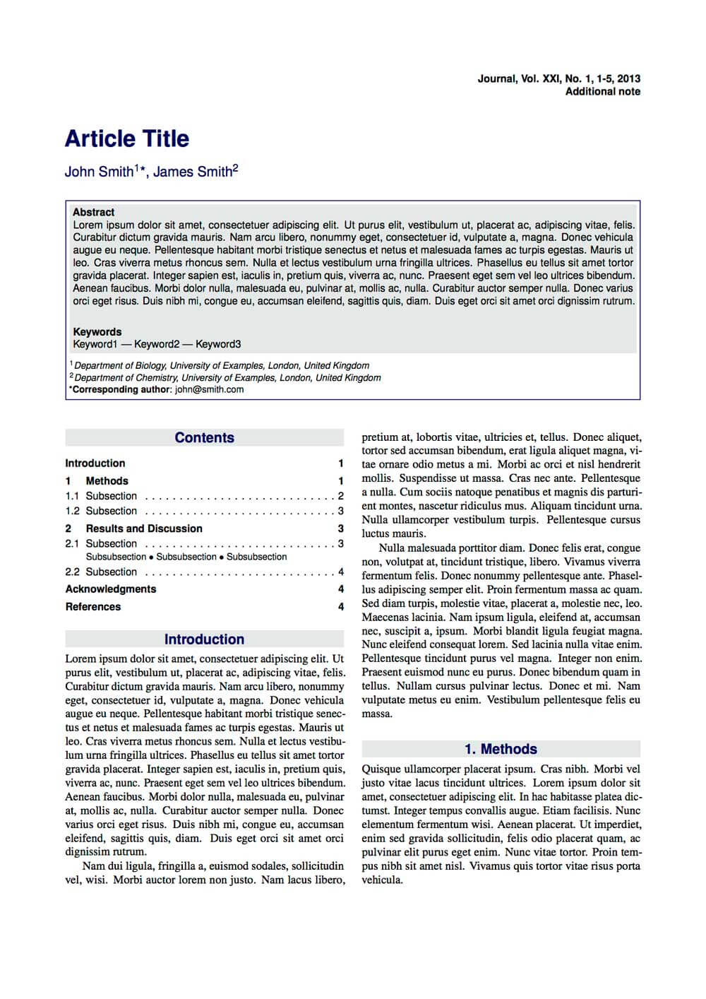 Latex Typesetting - Showcase Inside Technical Report Template Latex