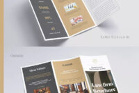 Law Firm Tri-Fold Brochure Template Indesign Indd | Brochure for Adobe Tri Fold Brochure Template