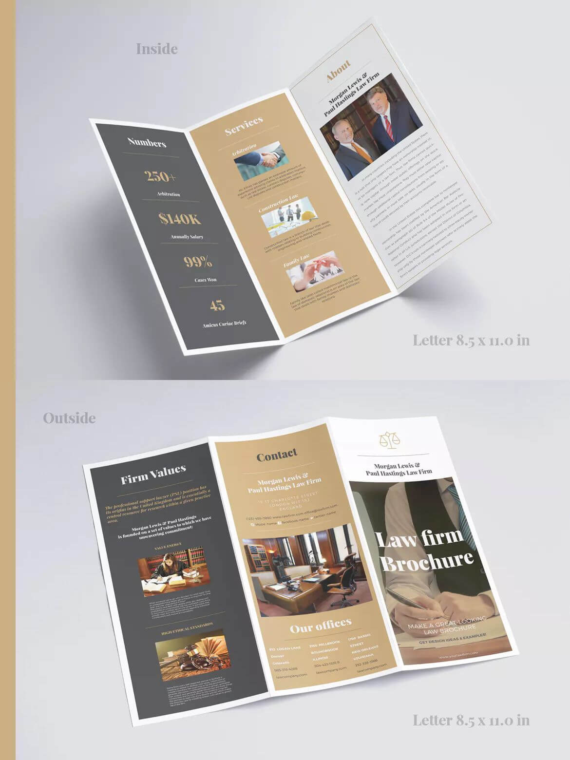 Law Firm Tri Fold Brochure Template Indesign Indd | Brochure Throughout Tri Fold Brochure Template Indesign Free Download