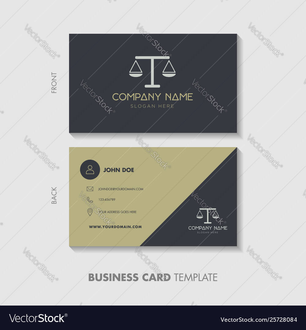 Lawyer Business Card Template Design Intended For Lawyer Business Cards Templates