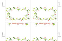 Lemon Squeezy: Day 12: Place Cards Free Printable Christmas for Table Place Card Template Free Download