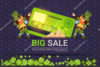 Leprechuns Hold Credit Card Sale For St. Patricks Day inside Credit Card Templates For Sale