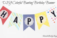 Let's Make It Lovely: Diy Colorful Bunting Birthday Banner Regarding Diy Party Banner Template