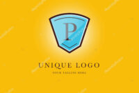 Letter Logo Shield Shape Icon Business Card Template Vector within Shield Id Card Template