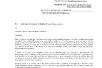 Letter Of Substantial Completion – Free Printable Documents in Certificate Of Substantial Completion Template