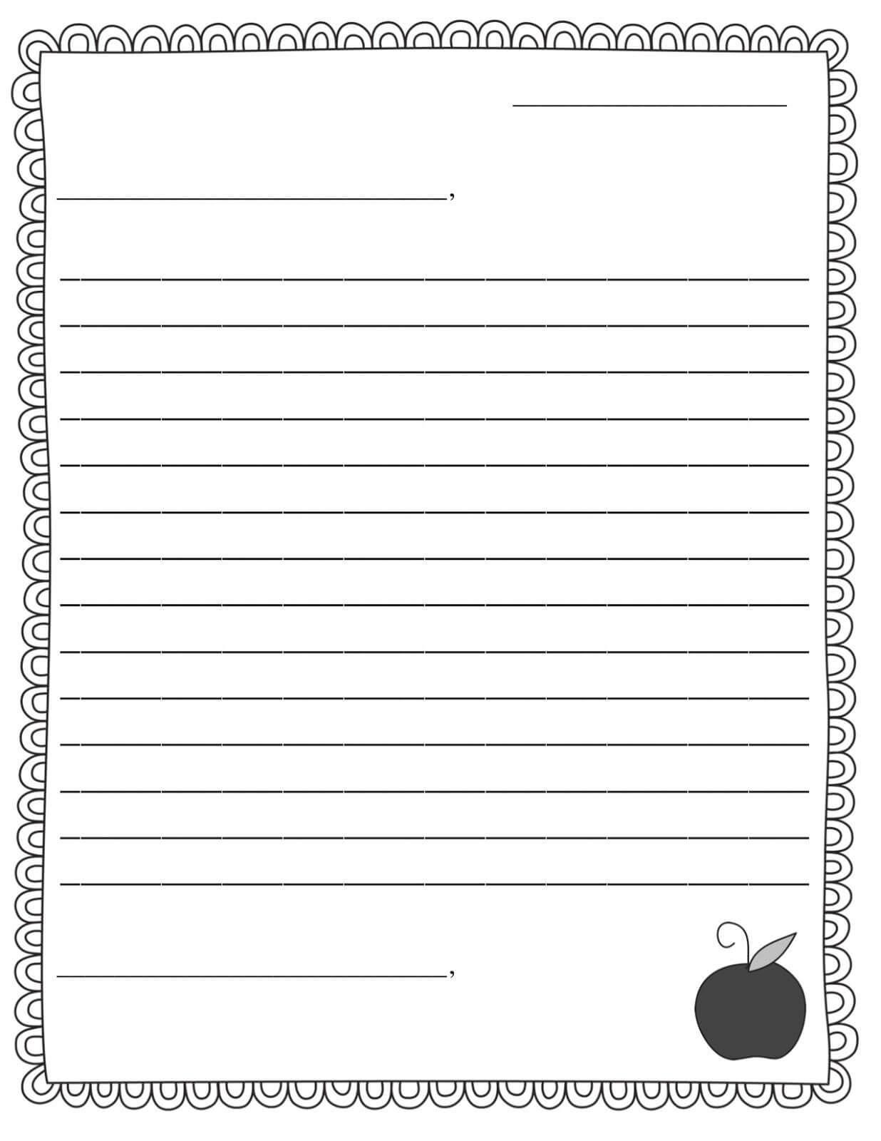 Letter Template 3Abspkjv | Letter Writing Template, Friendly Intended For Blank Letter Writing Template For Kids