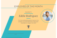 Light Modern Employee Certificate Template inside Manager Of The Month Certificate Template
