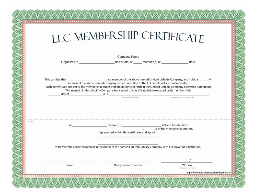 Llc Membership Certificate - Free Template Within Llc Membership Certificate Template Word