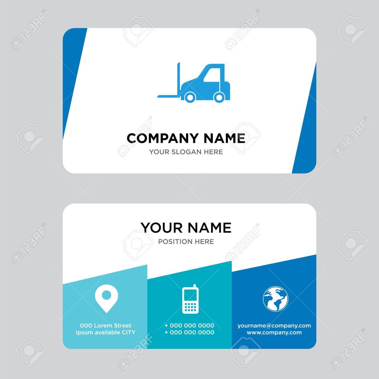 Logistics Transport Business Card Design Template, Visiting For.. Within Transport Business Cards Templates Free
