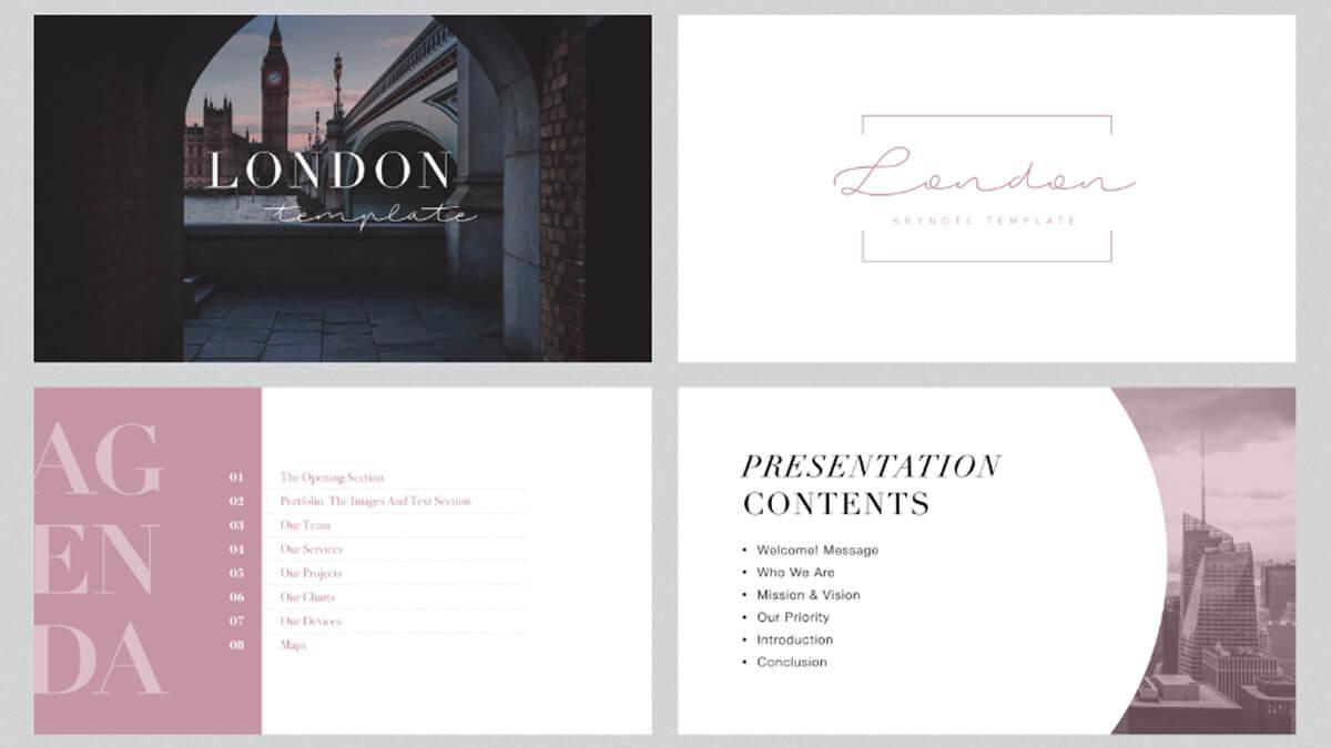 London Minimal Free Powerpoint Template In Fancy Powerpoint Templates