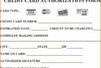 Looking To Download Credit Card Authorization Form? Then You Intended For Credit Card Authorization Form Template Word