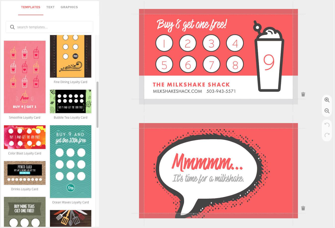 Loyalty Card Maker, Custom Punch Cards - Musthavemenus Regarding Business Punch Card Template Free