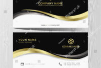 Luxury And Elegant Black Gold Business Cards Template On within Advertising Cards Templates