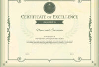 Luxury Certificate Template With Elegant Border Frame regarding Commemorative Certificate Template