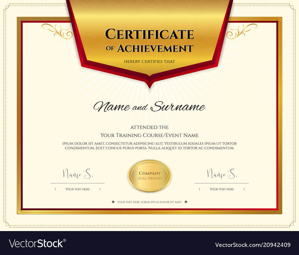 Luxury Certificate Template With Elegant Border Inside High Resolution Certificate Template