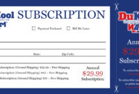 Magazine Subscription Card Template ] – How To Integrate throughout Magazine Subscription Gift Certificate Template