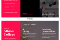 Magenta College Tri Fold Brochure Template for Tri Fold School Brochure Template