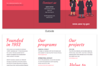 Magenta Non Profit Tri Fold Brochure Template with Country Brochure Template