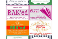 Make Them Wonder: Random Act Of Kindness #39, Hiding Free with Random Acts Of Kindness Cards Templates