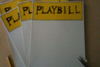 Make Your Own Broadway Playbill Template :) | Broadway inside Playbill Template Word