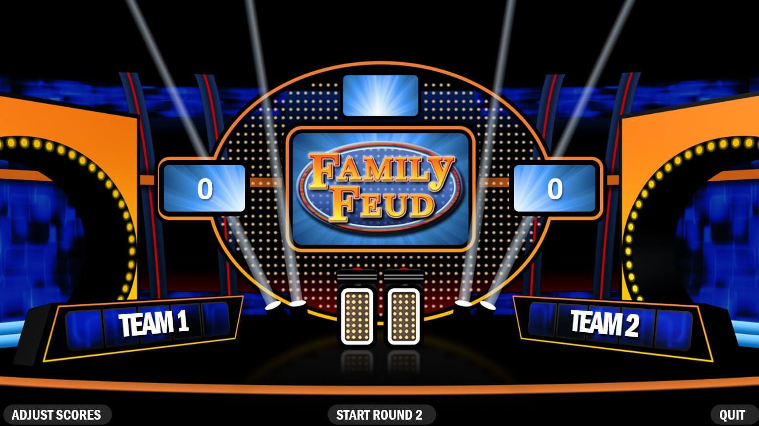 Make Your Own Family Feud Game With These Free Templates Throughout Family Feud Powerpoint Template With Sound