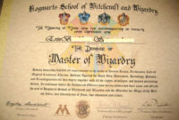 Make Your Own Harry Potter Hogwarts Diploma, Acceptance with regard to Harry Potter Certificate Template