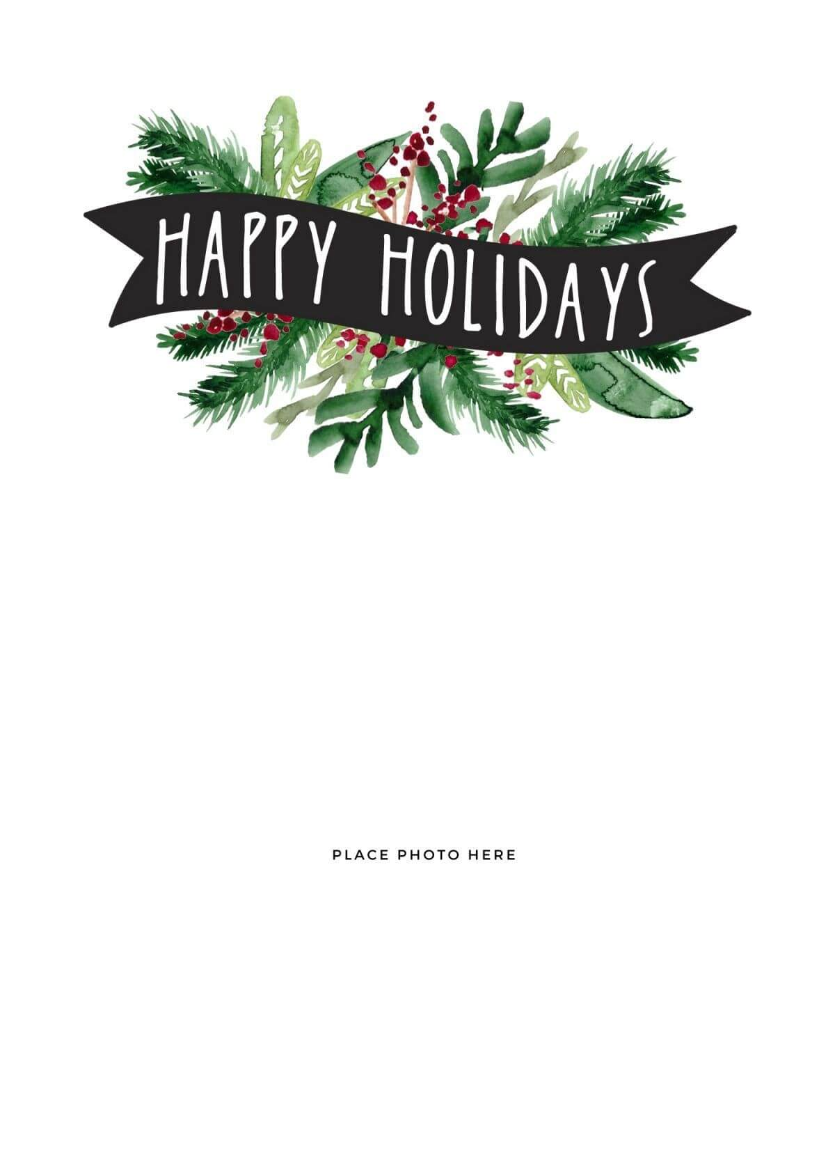 Make Your Own Photo Christmas Cards (For Free!) | Holidays Intended For Happy Holidays Card Template