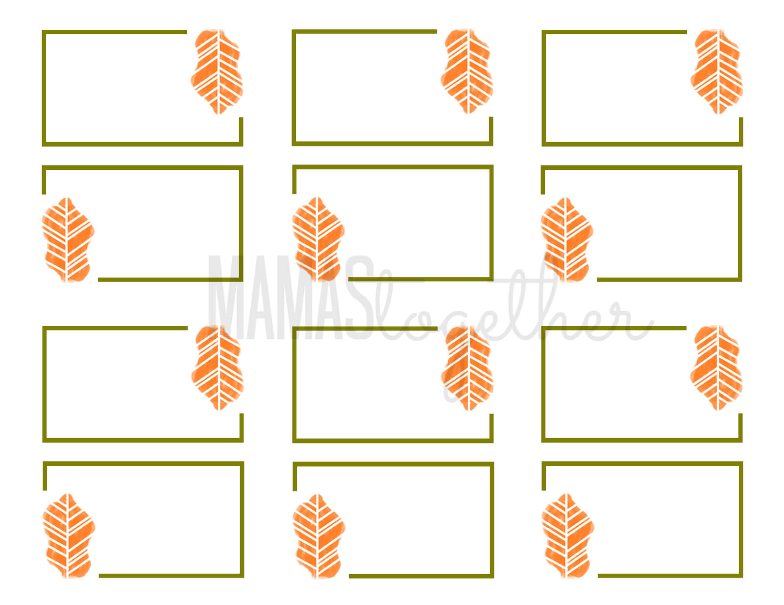 Mamas Together: Thanksgiving Place Card Printables & Diy Pertaining To Thanksgiving Place Card Templates