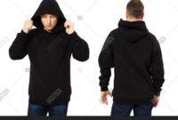 Man Template Mens Image & Photo (Free Trial) | Bigstock inside Blank Black Hoodie Template